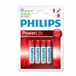 Philips Pila Alcalina LR03 AAA Pack-4