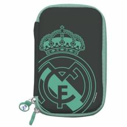 Real Madrid Funda Disco Duro 2.5' Negra Escudo