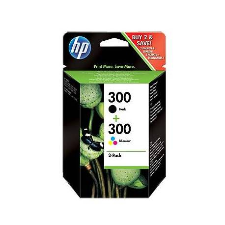 HP Cartucho Multipack 300 Negro+Color